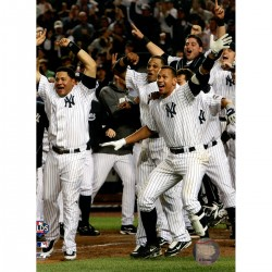 Steiner Sports - YANKPHU008040 - New York Yankees 2009 ALDS Game 2 Win Celebration at the Plate 8x10 Photo