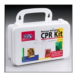 First Aid Only - 208-CPR-FAO - 4-person CPR kit: 4 CPR one-way valve faceshields- 8 exam quality gloves- 4 antimicrobial wipes & 2 biohazard