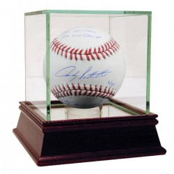 Steiner Sports - PETTBAS000071 - Andy Pettitte Signed MLB Baseball w/ MLB Debut 4/29/95 3x All Star 5x WS Champ 01 ALCS MVP 96 Wins Leader nbr46 Retired 8/23/15 Insc L/E 24