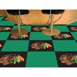 Fanmats - 10707 - Chicago Blackhawks Team Carpet Tiles