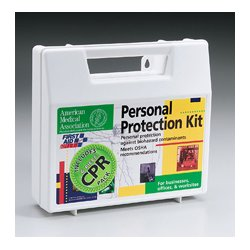 First Aid Only - 213-F - 18 piece Personal protection kit w/ 6 piece CPR pack- plastic case- 1 ea.
