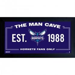 Steiner Sports - HORNPHA006001 - Charlotte Hornets Man Cave Sign 6x12 Framed Photo