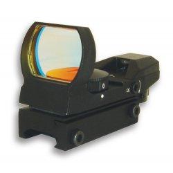 NcSTAR - D4B - NcStar D4B Multi-Mount Ruby Lens Multi-Reticle Red Dot Reflex Sight, Black