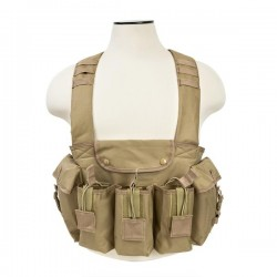 NcSTAR - CVAKCR2921T - NcStar CVAKCR2921T VISM Series Fully-Adjustable AK Chest Rig, Tan