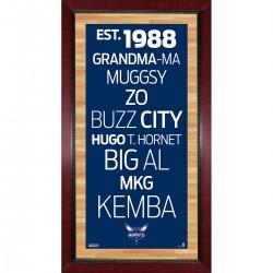 Steiner Sports - BOBCPHA016000 - Charlotte Hornets Subway Sign Wall Art 16x32 Photo