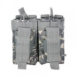 NcSTAR - CVAR2MP2927D - NcStar CVAR2MP2927D VISM Adjustable AR Double Magazine PALS Pouch, Digital Camo