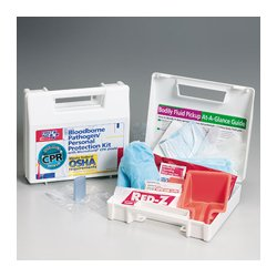 First Aid Only - 217-O - Bloodborne Pathogen Kit, Plastic Case, White, 1 EA