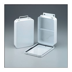 First Aid Only - M5018 - 16 Unit- empty metal case- 1 shelf- hinged w/ gasket- 6-5/16 in. x9-1/16 in. x2-3/8 in. - vertical- 1 ea.