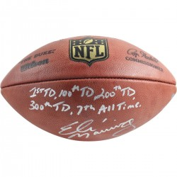 Steiner Sports - MANNFOS000078 - Eli Manning Signed NFL Duke Football w/ 1st TD 100th TD 200th TD 300th TD nbr7 All Time Insc LE of 10
