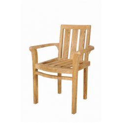 Anderson Teak - CHS-011A - Classic Stackable Armchair Set of 4