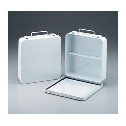 First Aid Only - M5020 - 24 Unit- empty metal case- 1 shelf- hinged w/ gasket- 9-1/16 in. x9-1/16 in. x2-3/8 in. - horizontal- 1 ea.