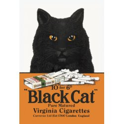Buyenlarge - 01614-0P2030 - Black Cat Pure Matured Virginia Cigarettes 20x30 poster