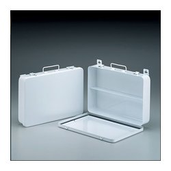 First Aid Only - M5021 - 36 Unit- empty metal case- 1 shelf- hinged w/ gasket- 13-1/2 in. x9-1/16 in. x2-3/8 in. - horizontal- 1 ea.