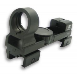 NcSTAR - DAB - NcStar DAB 3/8-Inch Weaver Red and Green Dot Dovetail Base Reflex Sight, Black