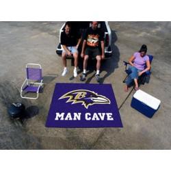 Fanmats - 14271 - Baltimore Ravens Man Cave Tailgater Rug 5x6
