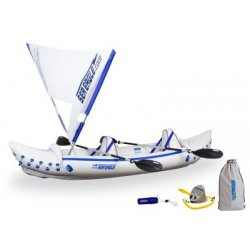 Sea Eagle - SE330K_QS - Sea Eagle 330 Inflatable Kayak Includes QuikSail Seats Paddles and Pump
