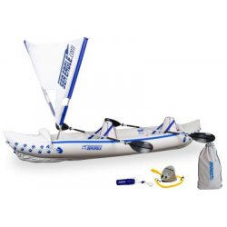 Sea Eagle - SE370K_QS - Sea Eagle 370 Inflatable 12ft 6in Kayak Incl QuikSail Paddles Seats and Pump