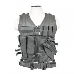 NcSTAR - CTVL2916U - Vism By Ncstar Tactical Vest/Urban Gray Xl-xxl+