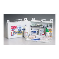 First Aid Only - 224-F - 25 Person bulk kit w/ CPR one-way valve faceshield- metal case- 1 ea.