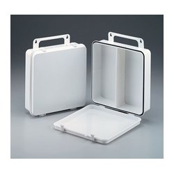 First Aid Only - M5035 - 24 Unit- empty polypropylene case w/ gasket & handle hanger- 9-3/16 in. x9-3/16 in. x2-3/4 in. - 1 ea.