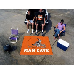 Fanmats - 14291 - Cleveland Browns Man Cave Tailgater Rug 5x6