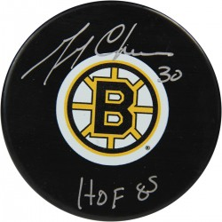 Steiner Sports - CHEEPUS000000 - Gerry Cheevers Signed Bruins Puck w HOF 85 Insc. (Sport Authentix Auth)