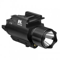 NcSTAR - AQPFLSG - NcStar AQPFLSG 200-Lumen Quick-Release Tactical Green Laser and Flashlight Combo