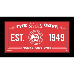 Steiner Sports - HAWKPHA006004 - Atlanta Hawks 6x12 Kids Cave Sign