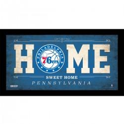 Steiner Sports - 76ERPHA006003 - Philadelphia 76ers 6x12 Home Sweet Home Sign