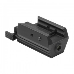 NcSTAR - AAPRLS - NcStar AAPRLS Aluminum Accessory Rail Mounting Tactical Red Pistol Laser, Black