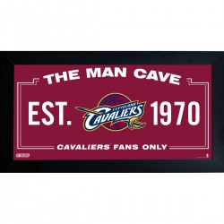 Steiner Sports - CAVAPHA006001 - Cleveland Cavaliers Man Cave Sign 6x12 Framed Photo