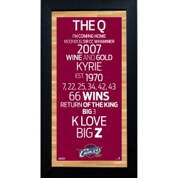 Steiner Sports - CAVAPHA006000 - Cleveland Cavaliers Subway Sign 6x12 Framed Photo
