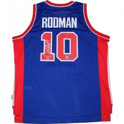 Steiner Sports - RODMJES000004 - Dennis Rodman Signed Detroit Pistons Blue Adidas Swingman Jersey
