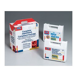 First Aid Only - 227-CP - 25 Person package (exceeds OSHA- meets ANSI standards)- one ea. of 223-AN- 216-O w/ CPR one-way valve faceshie