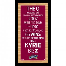 Steiner Sports - CAVAPHA009000 - Cleveland Cavaliers Subway Sign Wall Art 9.5x19 Photo