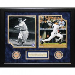 Steiner Sports - 200911952210607 - Derek Jeter Lou Gehrig Two Photo Collage w Dirt for The Original and The New Yankee Stadium