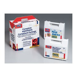 First Aid Only - 228-CP - 50 Person package (exceeds OSHA- meets ANSI standards)- one ea. of 225-AN- 216-O w/ CPR one-way valve faceshie