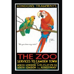 Buyenlarge - 01473-3P2030 - London's Tramways - The Zoo 20x30 poster