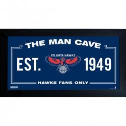 Steiner Sports - HAWKPHA006001 - Atlanta Hawks Man Cave Sign 6x12 Framed Photo