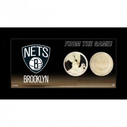 Steiner Sports - NETSPHA004001 - Brooklyn Nets Logo w Net and Uniform Capsule 4x8 Framed Photo
