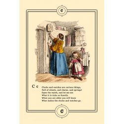 Buyenlarge - 09021-9CG12 - Little Lily's Alphabet: Clocks and Watches 12x18 Giclee on canvas