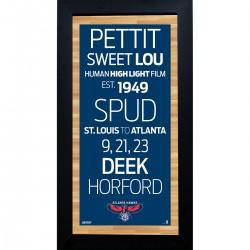 Steiner Sports - HAWKPHA006000 - Atlanta Hawks Subway Sign 6x12 Framed Photo