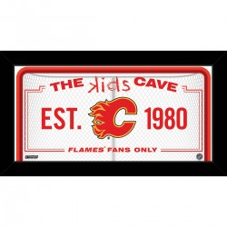Steiner Sports - FLAMPHA010004 - Calgary Flames 10x20 Kids Cave Sign