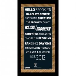 Steiner Sports - NETSPHA006000 - Brooklyn Nets Subway Sign 6x12 Framed Photo