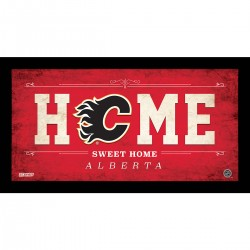 Steiner Sports - FLAMPHA006003 - Calgary Flames 6x12 Home Sweet Home Sign