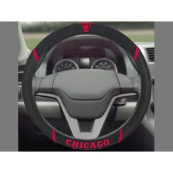 Fanmats - 14846 - NBA - Chicago Bulls Steering Wheel Cover 15x15
