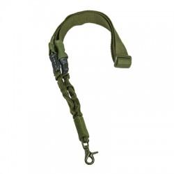 NcSTAR - AARS1PG - NcStar AARS1PG VISM Fully Adjustable Single Point Yoke Ring Bungee Sling, Green