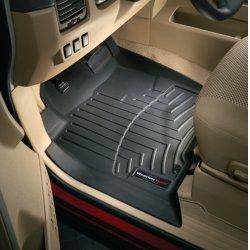 WeatherTech - 44338-1-2 - 2011 - 2014 Volkswagen Jetta / GLI Black 1st & 2nd Row FloorLiner