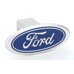 DefenderWorx - 06000 - Ford - Blue - Image Line - 2 Inch Billet Hitch Cover
