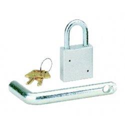 DefenderWorx - 10006 - 2 Inch Plain Padlock W 2 Inch Receiver Tow Pin